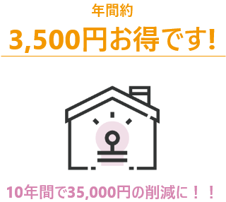 10年間で18,000円の削減に!!